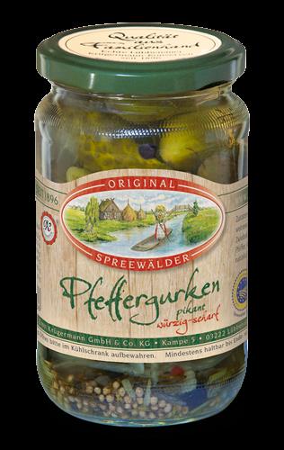 Peffergurken (370 ml im Glas)